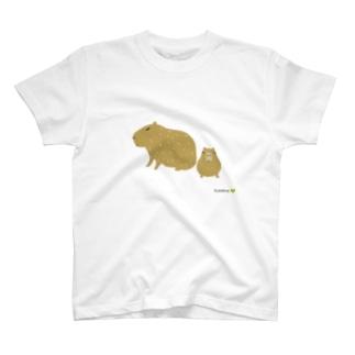 カピバラおやこ T-shirts