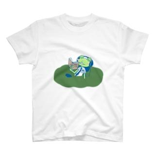 沼の主カエルくん T-shirts