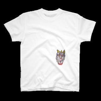 AKINORITANIの笑う女 -giggling woman- T-shirts