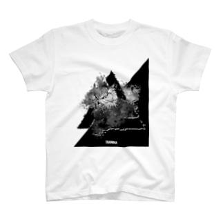 TRI ANIMA【owl02】White T-shirts