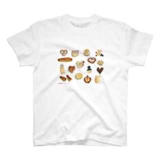 カリーノぱん×BREAD1setのコラボT T-shirts