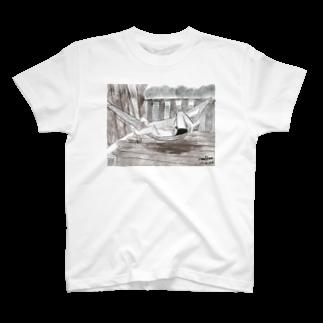いすやますみえのハンモックで寝るジョセフ T-shirts