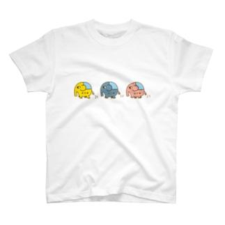 ジャーゾウの行進 T-shirts