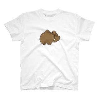 スナックくまちゃんおしりカラー T-shirts