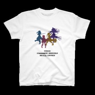 nuwtonの魔法少女のシルエット T-shirts