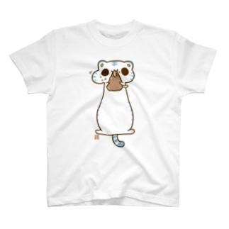 もっちゅもっちゅ白虎様 T-shirts