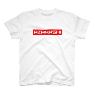 A.ZA.RA.SHI BOXロゴ T-shirts