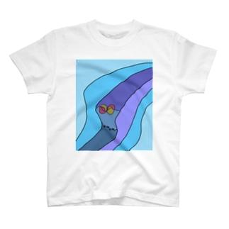 JUNSEN(純仙)見えない風の道筋 T-shirts