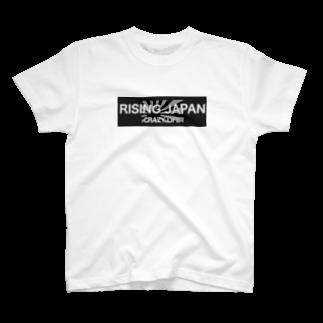 RISING JAPANのBLACK RISING SUN T-shirts