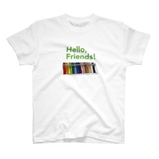 「Hello, Friends!」クレヨンくん T-shirts
