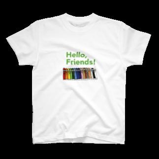 CANNOW WONDERLANDの「Hello, Friends!」クレヨンくん T-shirts