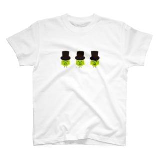 three green birds T-shirts