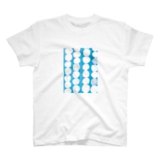 青ドット T-shirts