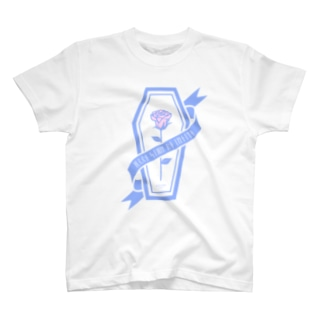 【MOON SIDE】Rose Coffin Ver.2 #lightblue×lightpink T-shirts