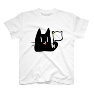 黒ネコ03 T-shirts