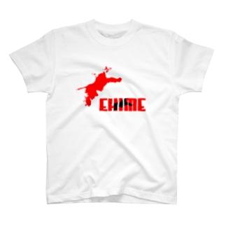 EHIME-T Red✕Black T-shirts