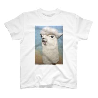 おしゃべりアルパカ T-shirts