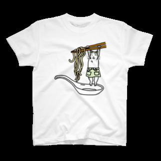 シノビアシの製麺猫(文字なし) T-shirts