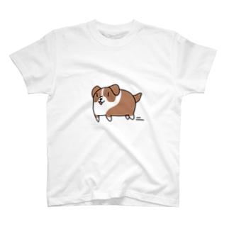 スライド犬 T-shirts