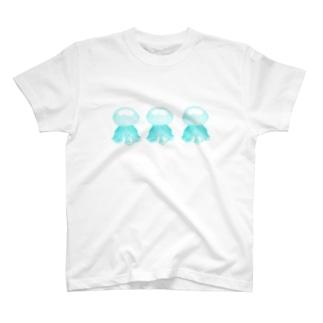 クラゲ ルテウムジェリー(水色・3連) T-shirts