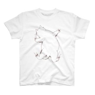 はりつくデブ猫 T-shirts