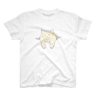 一緒に行くニャーーン Tシャツ