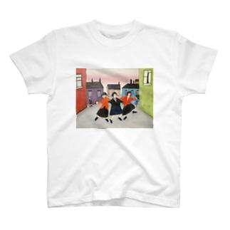 日本での色合い、空間そして時の中のラウリー:Lowry in Japanese color, space, and time T-shirts