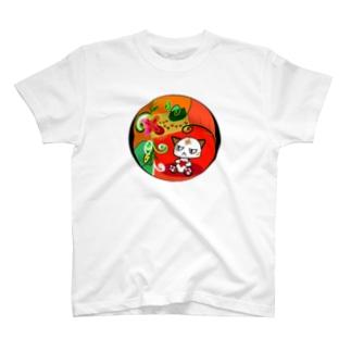 猫の節句 目つきの悪い猫 T-shirts