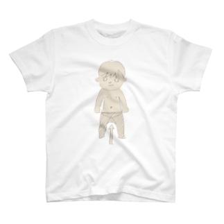 タイツずり落ち T-shirts