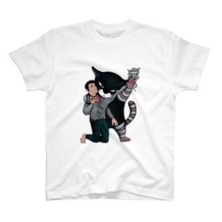 もやもやしたもの抜き取っちゃう猫 T-shirts