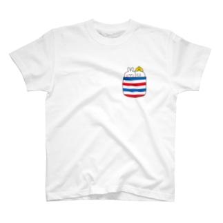Spoiled Rabbit - Chest Pocket / あまえんぼうさちゃん - むねポケット T-shirts