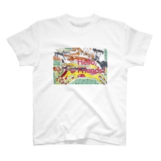「Hello, Friends!」動物大集合 T-shirts