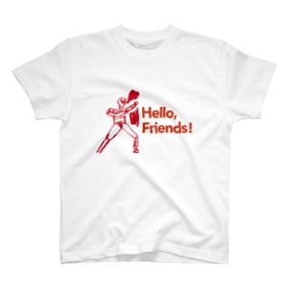 「Hello, Friends!」ヒーロー T-shirts