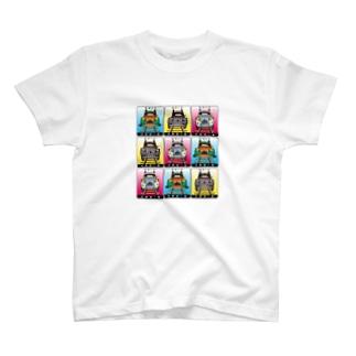 猫と鉄道と車 T-shirts