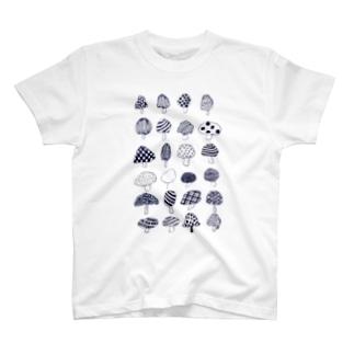 様々なきのこ T-shirts
