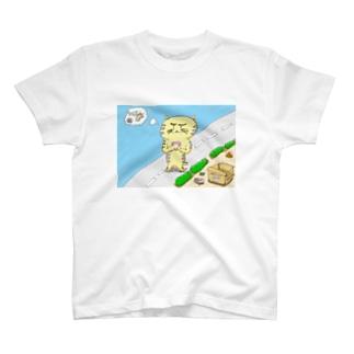 捨て猫にゃんにゃん丸の決断 T-shirts