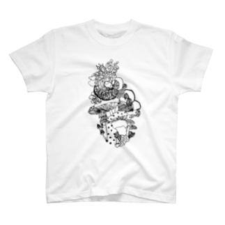 菌界エントランス T-shirts