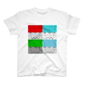 ポップアート×方形波 T-shirts