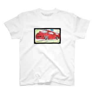 赤い車 T-shirts