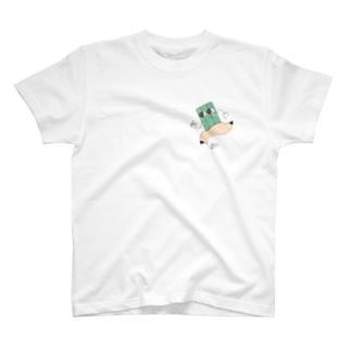 二足歩行えんぴつ T-shirts
