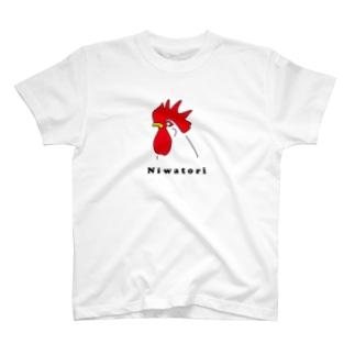 ニワトリTシャツ T-shirts