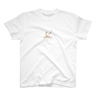 セキセイインコ「シャチホコ!」 T-shirts