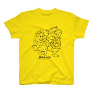 ボブ&アリス(黒線画) Tシャツ