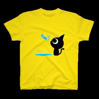 魚の夢CHの魚の夢CH〜ネコトビツクリトボク〜Tシャツ