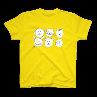 ★いろえんぴつ★のどうぶつたくさん Tシャツ