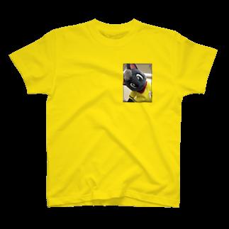 魚の夢CHの黒猫ポピー Tシャツ