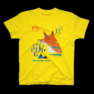 伊敷トゥートのどんどこキツネTシャツ