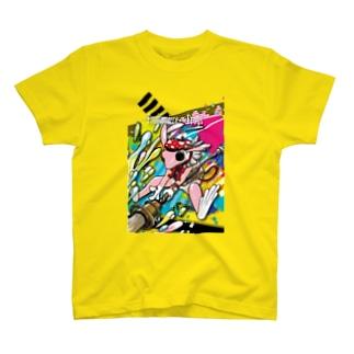 画家エリミミガエル(ピンク3) Tシャツ