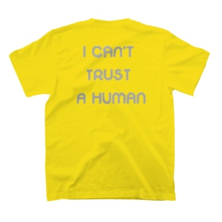 TRAUMATIC RECORDINGSのGrass Poet「I CAN'T TRUST A HUMAN」TEE T-shirtsの裏面