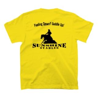サンシャインステーブルス Feeling Down? Saddle Up! (ブラック) T-shirts
